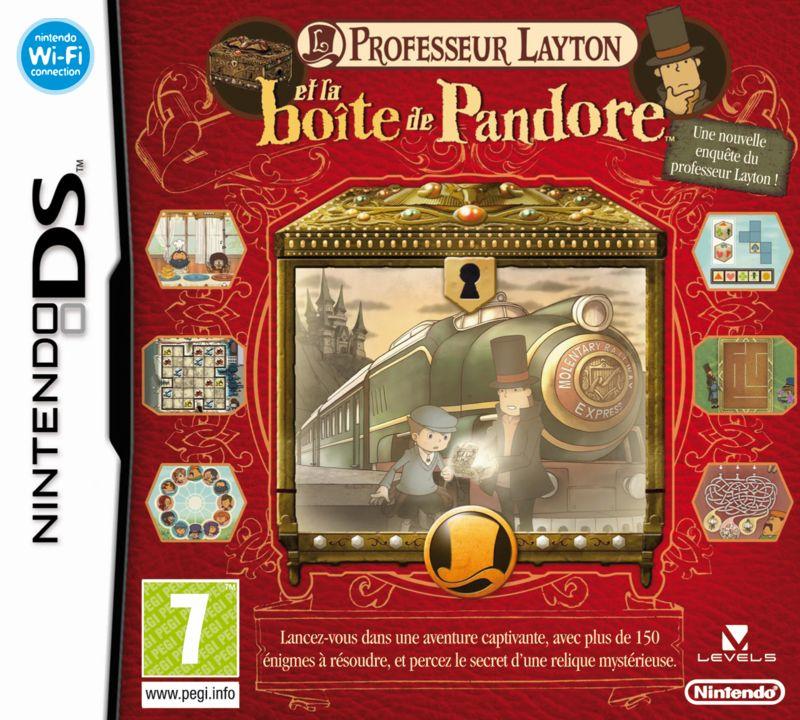La boîte du jeu Professeur Layton et la boîte de Pandore